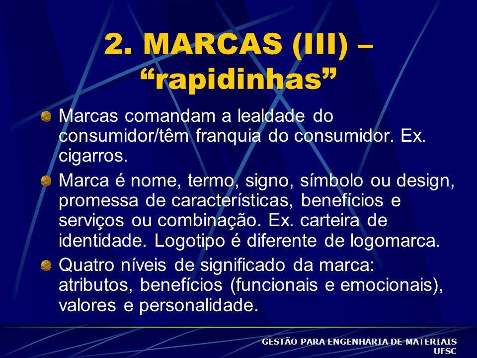 2. MARCAS (III) – rapidinhas