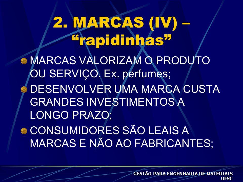 2. MARCAS (IV) – rapidinhas