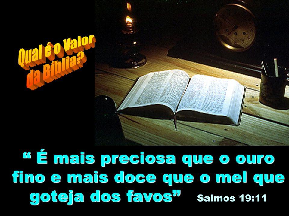 Qual é o Valor da Bíblia.