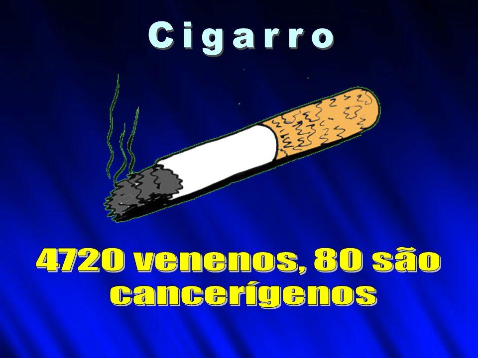 Cigarro 4720 venenos, 80 são cancerígenos