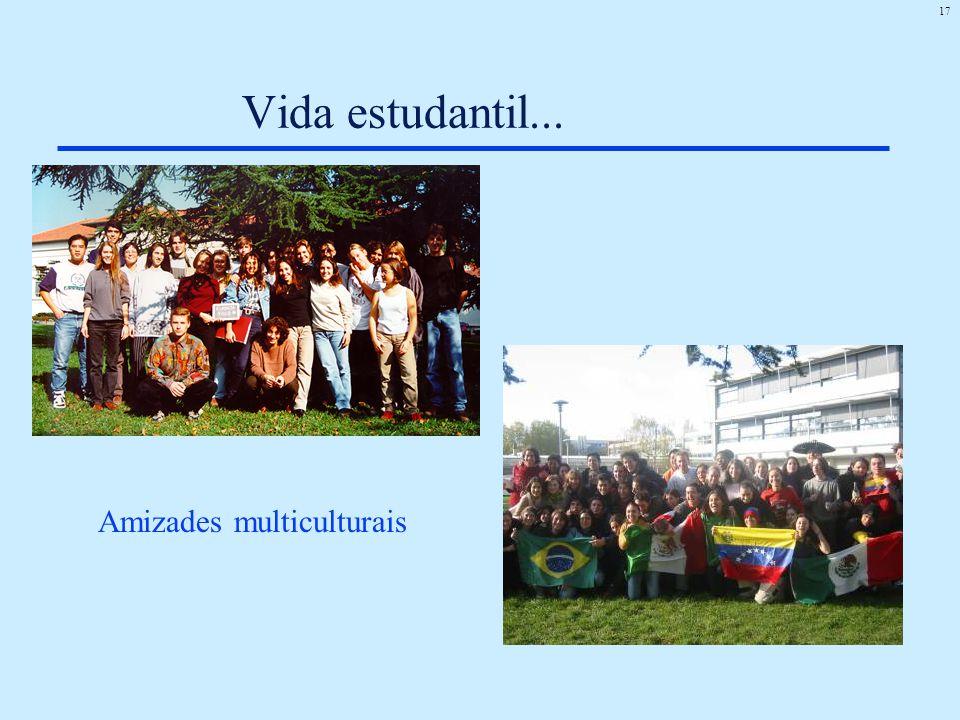 Vida estudantil... Amizades multiculturais