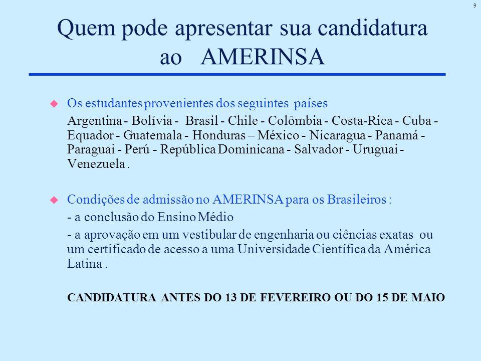 Quem pode apresentar sua candidatura ao AMERINSA