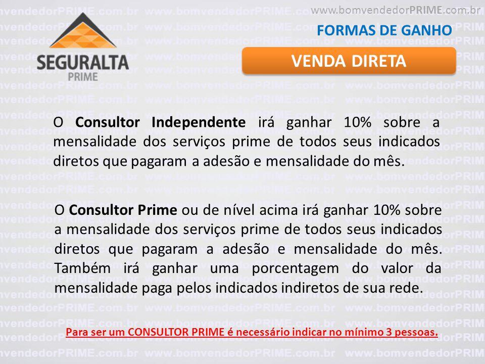 VENDA DIRETA FORMAS DE GANHO