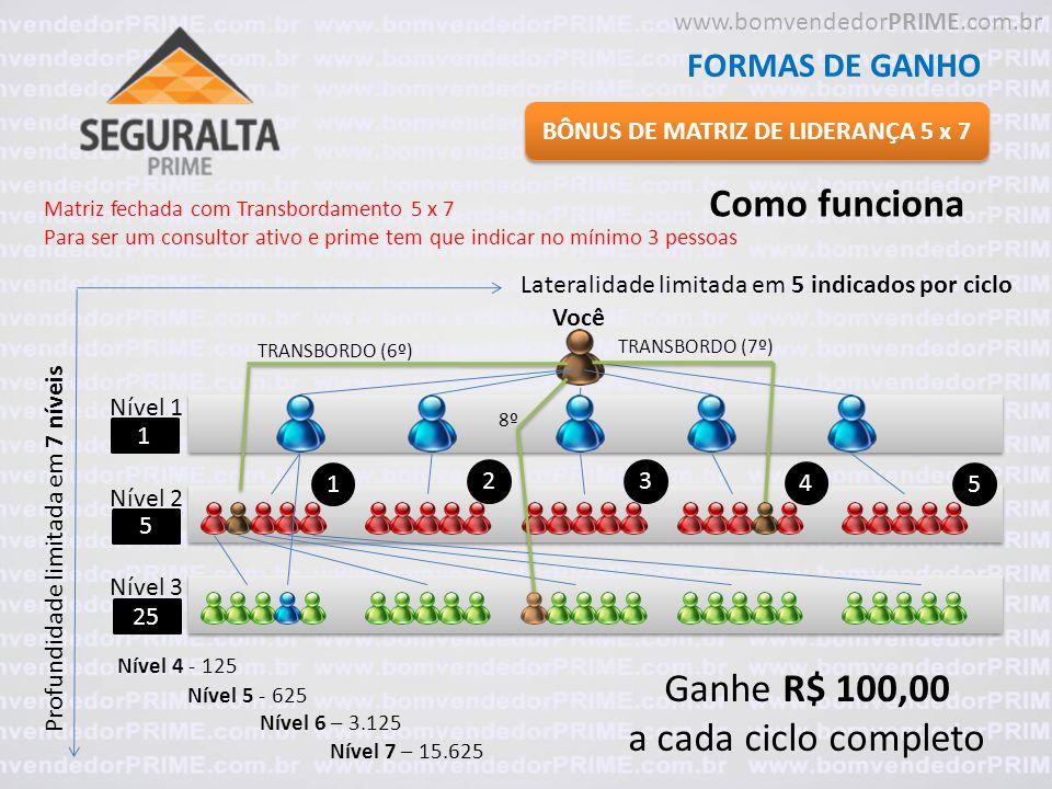BÔNUS DE MATRIZ DE LIDERANÇA 5 x 7