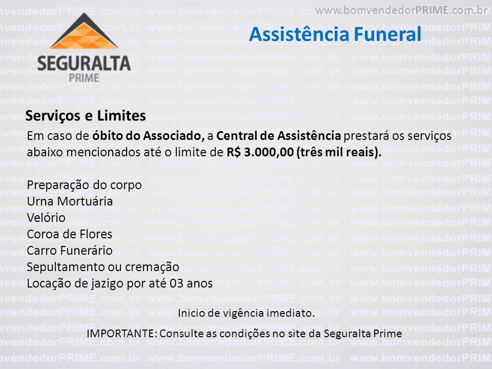 Assistência Funeral Serviços e Limites