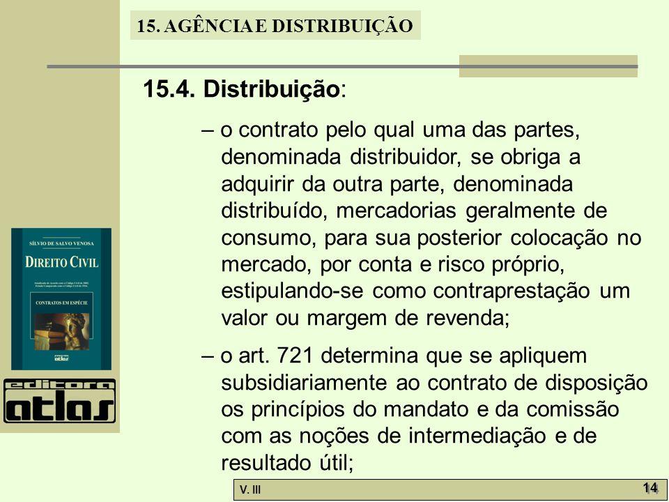 15.4. Distribuição: