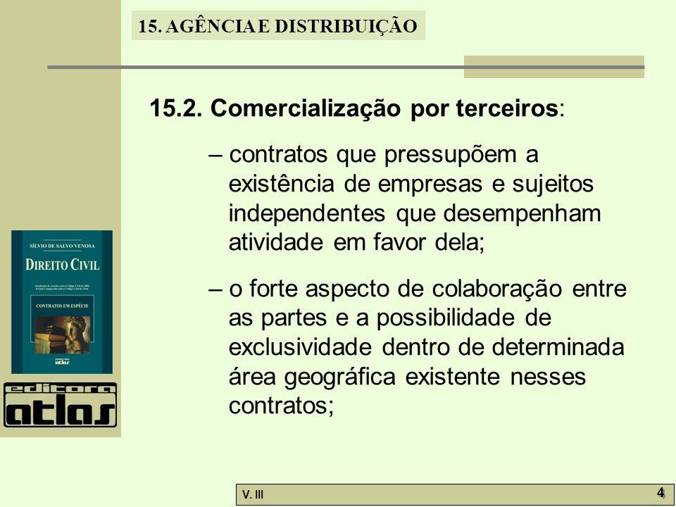15.2. Comercialização por terceiros: