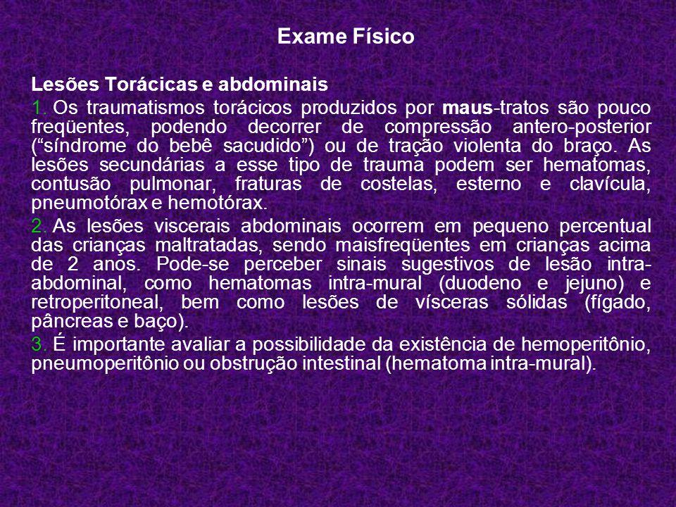 Exame Físico Lesões Torácicas e abdominais