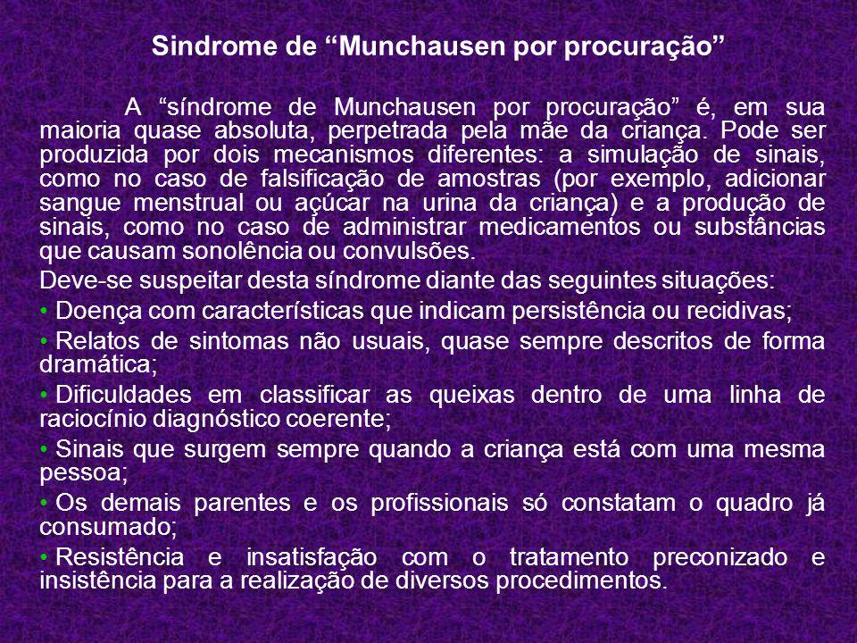 Sindrome de Munchausen por procuração