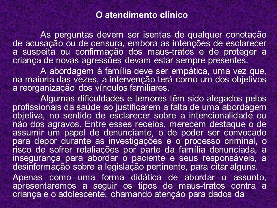O atendimento clínico