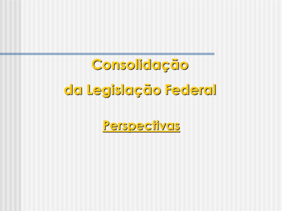 Consolidação da Legislação Federal