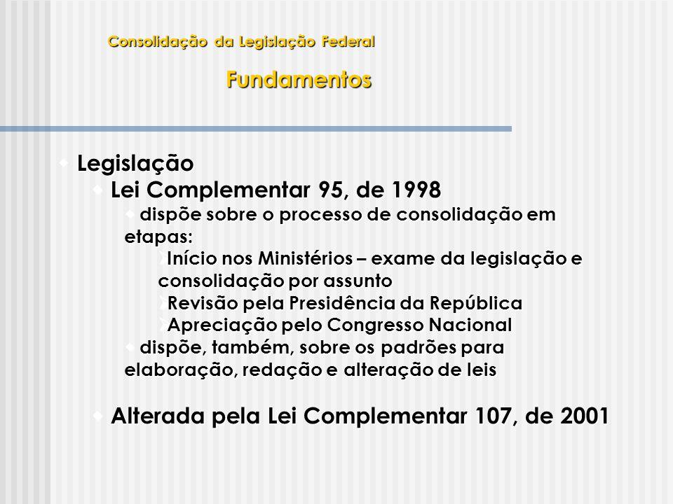 Alterada pela Lei Complementar 107, de 2001