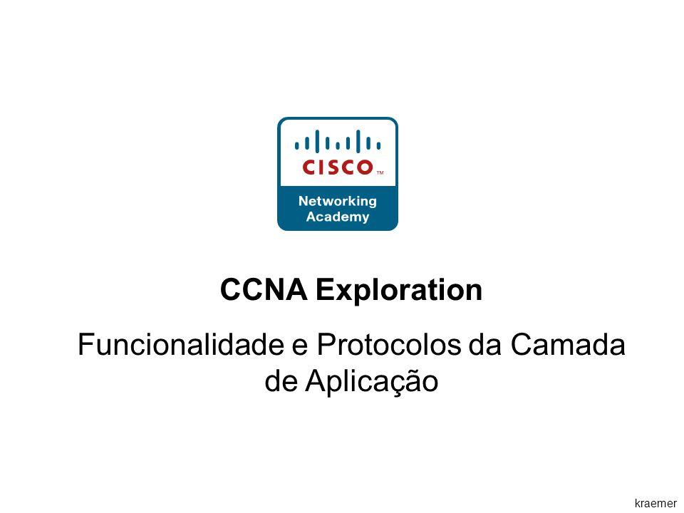Funcionalidade e Protocolos da Camada de Aplicação