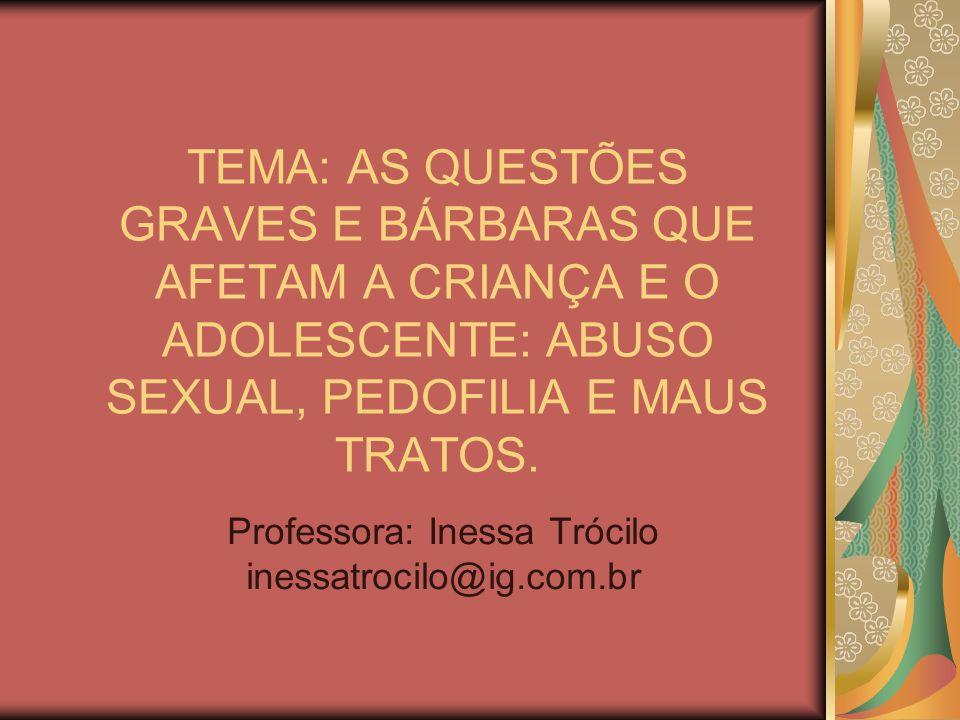 Professora: Inessa Trócilo inessatrocilo@ig.com.br