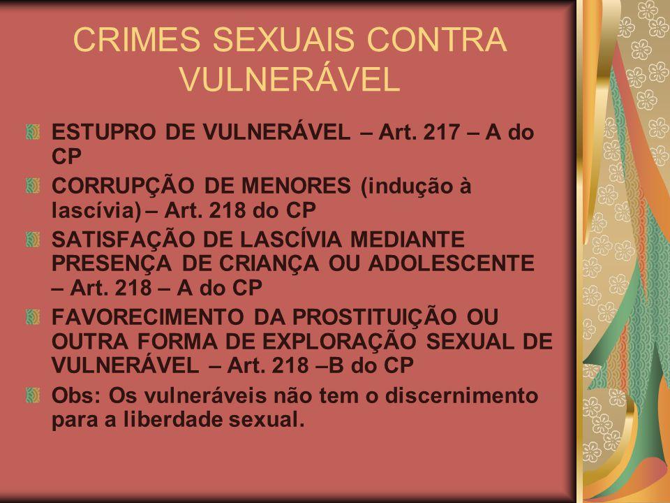 CRIMES SEXUAIS CONTRA VULNERÁVEL