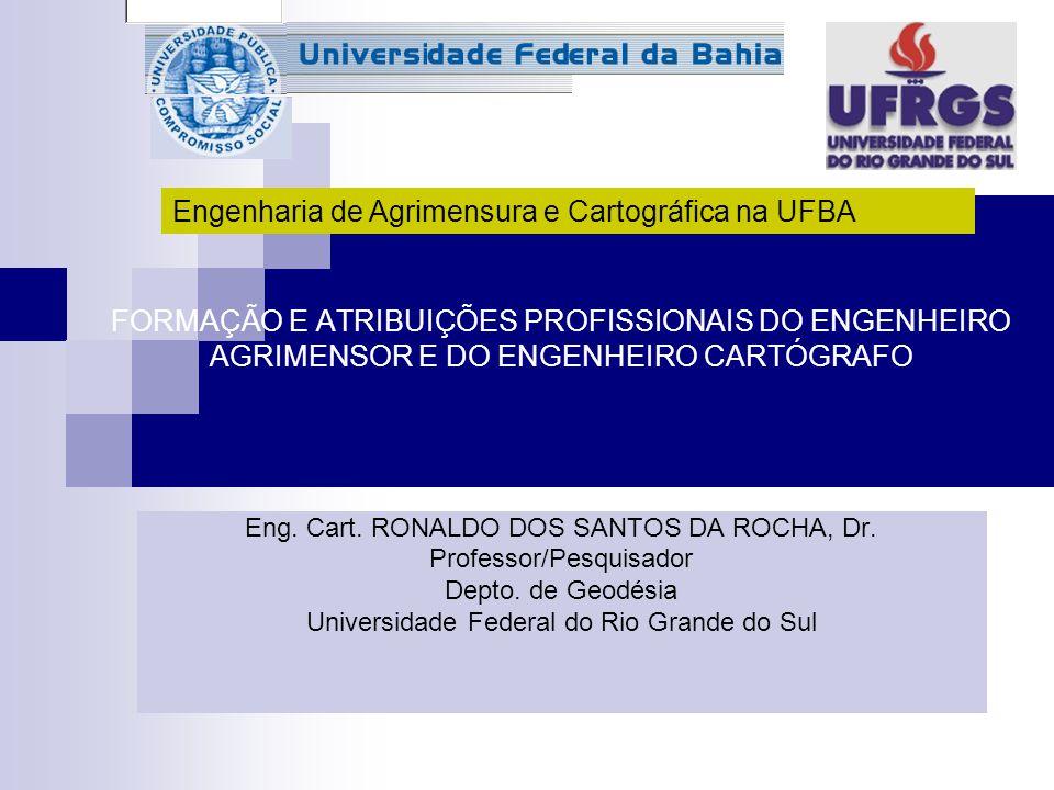 Engenharia de Agrimensura e Cartográfica na UFBA