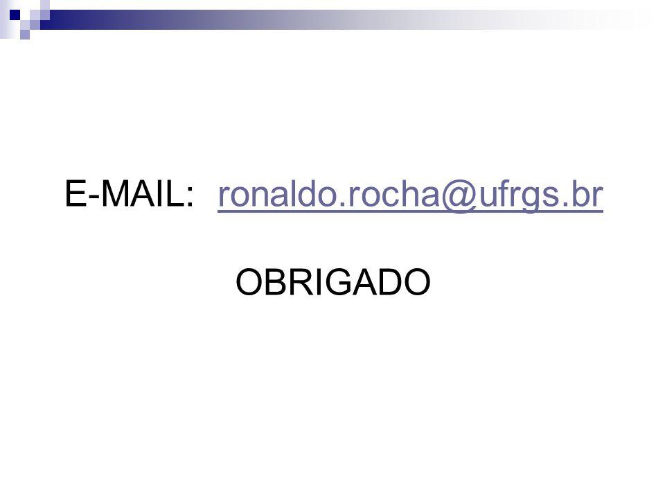 E-MAIL: ronaldo.rocha@ufrgs.br OBRIGADO