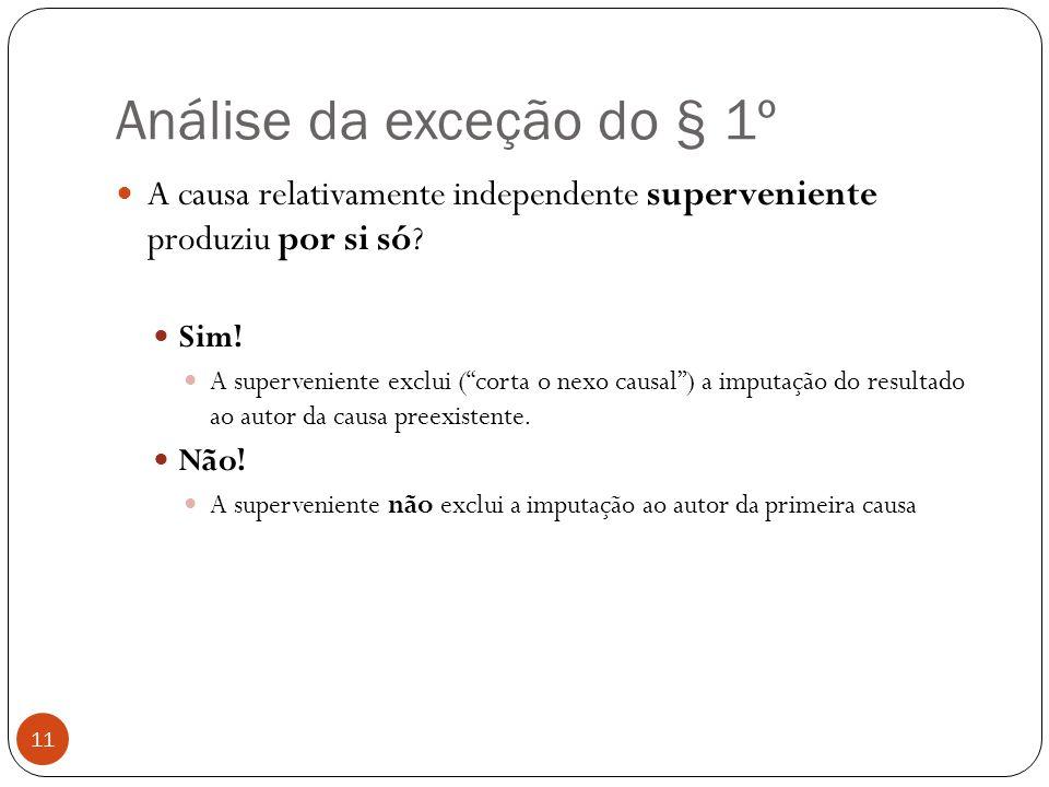 Análise da exceção do § 1º