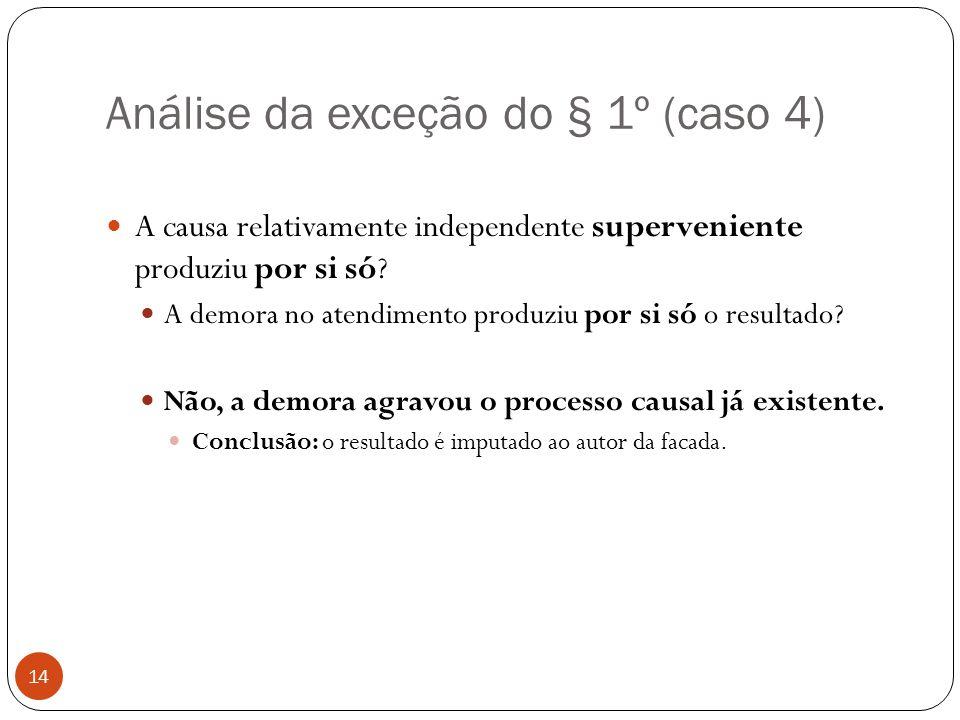 Análise da exceção do § 1º (caso 4)