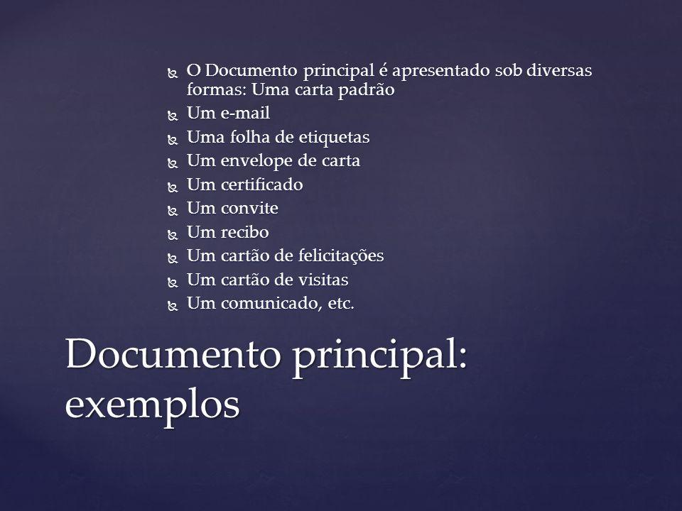 Documento principal: exemplos