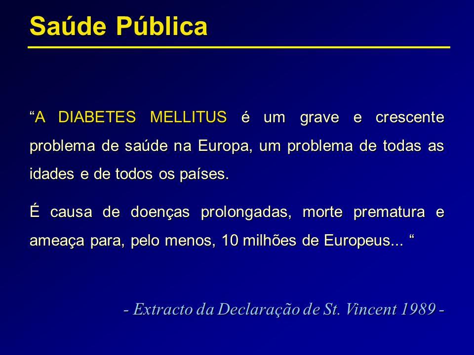 Saúde Pública - Extracto da Declaração de St. Vincent 1989 -