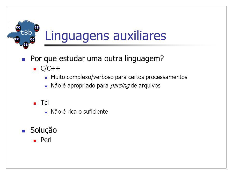 Linguagens auxiliares