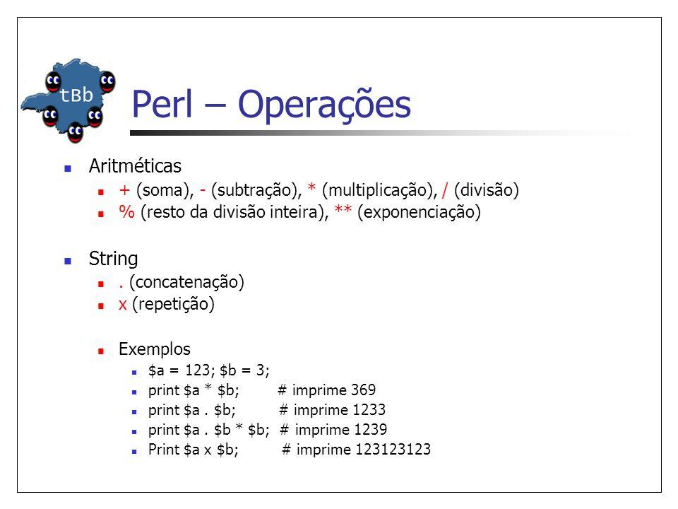 Perl – Operações Aritméticas String