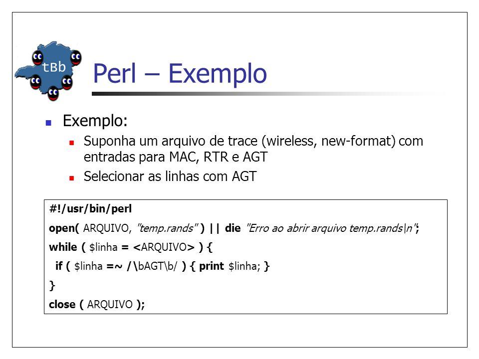 Perl – Exemplo Exemplo: