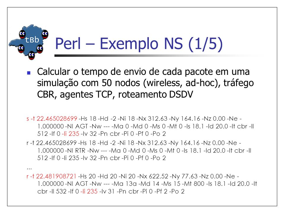 Perl – Exemplo NS (1/5)