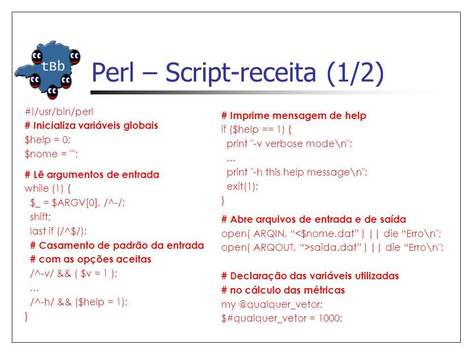 Perl – Script-receita (1/2)