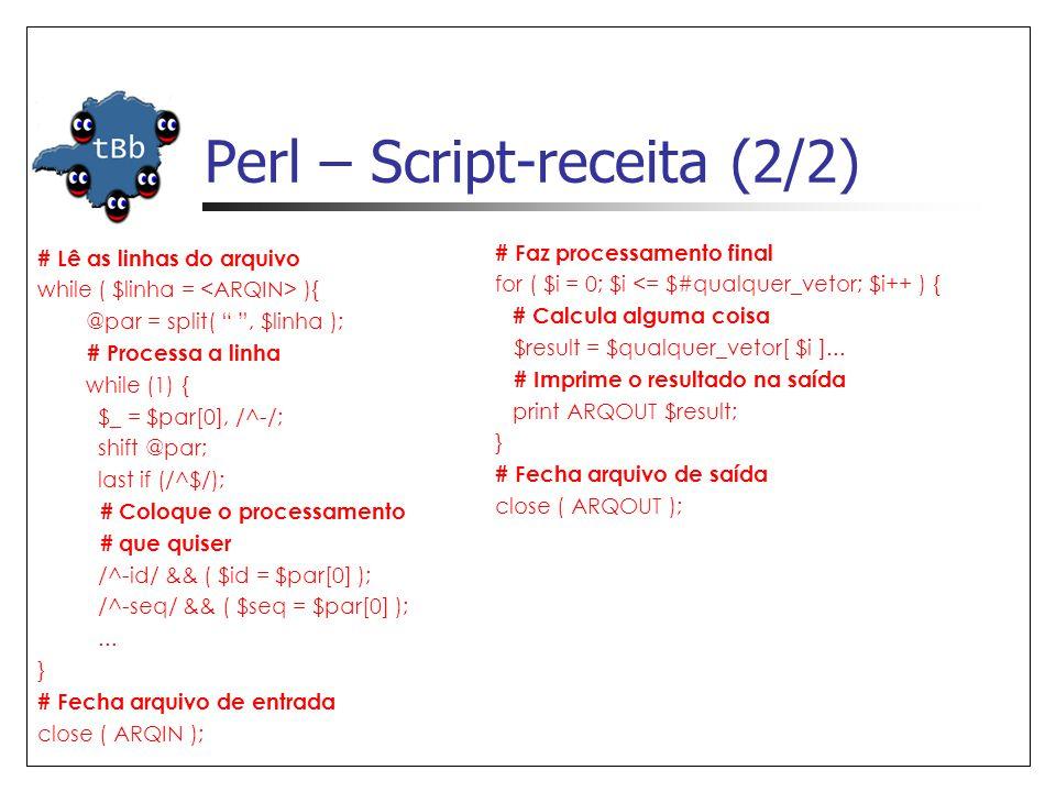 Perl – Script-receita (2/2)