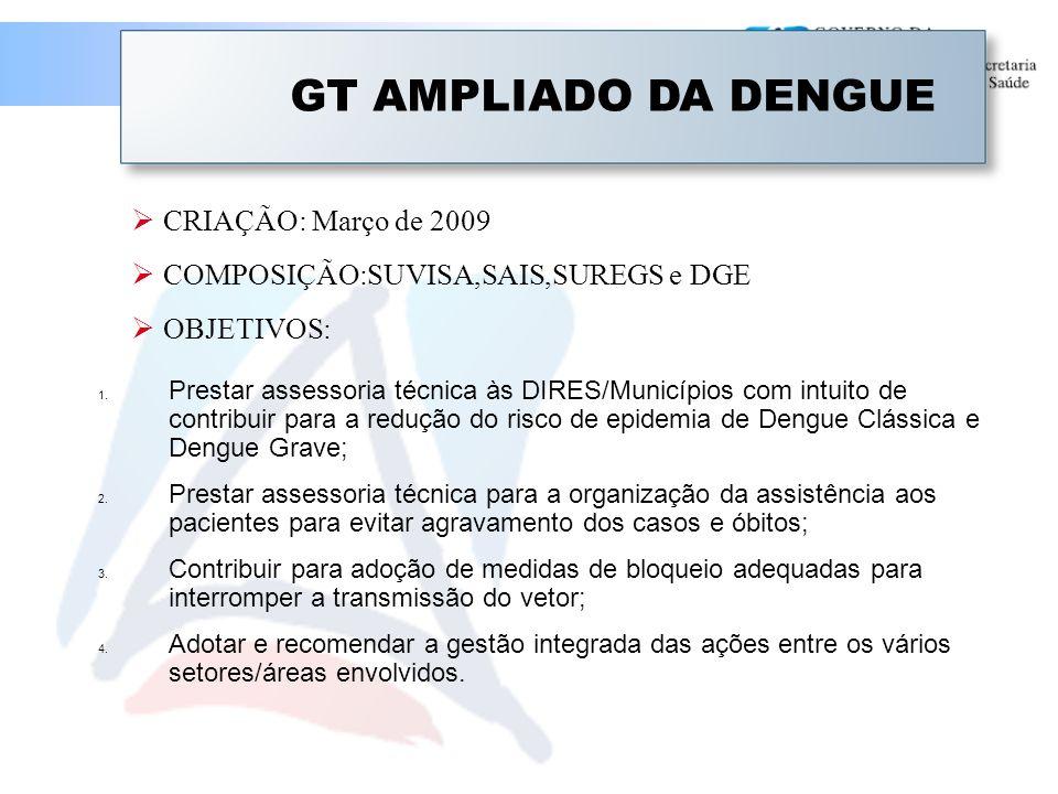 GT AMPLIADO DA DENGUE CRIAÇÃO: Março de 2009