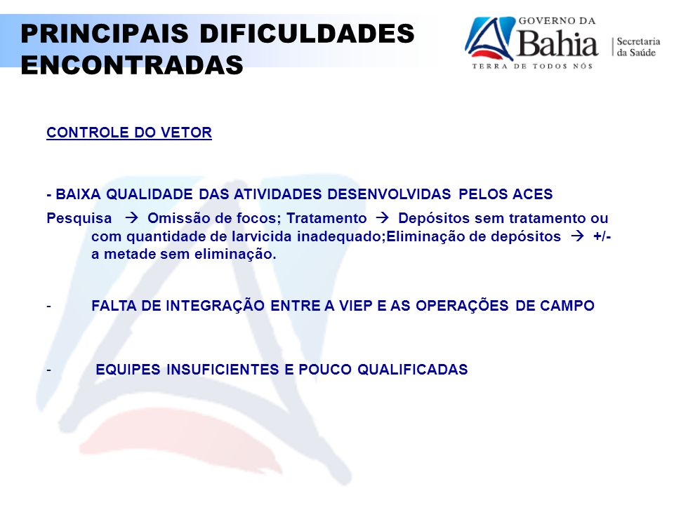 PRINCIPAIS DIFICULDADES ENCONTRADAS