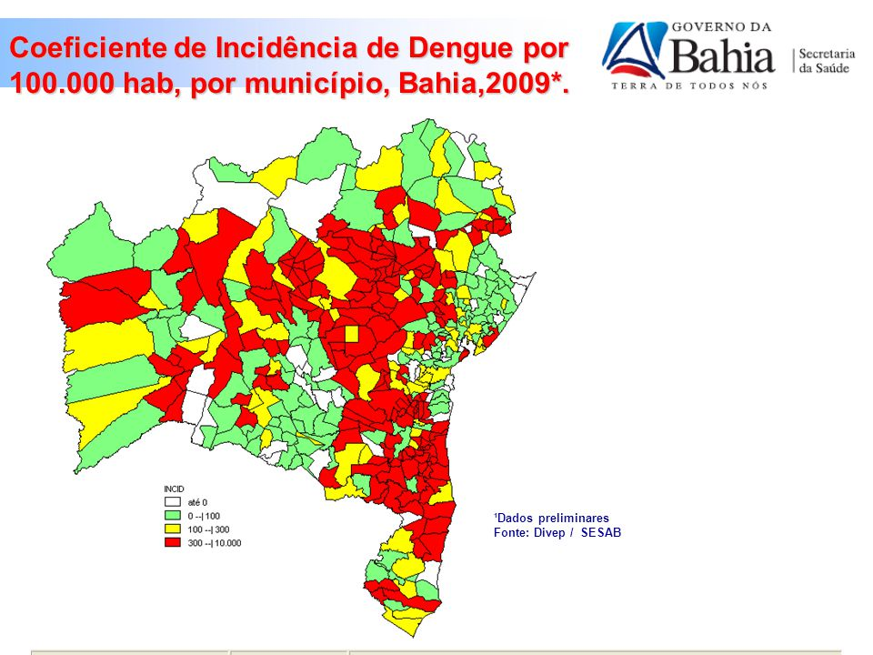Coeficiente de Incidência de Dengue por 100