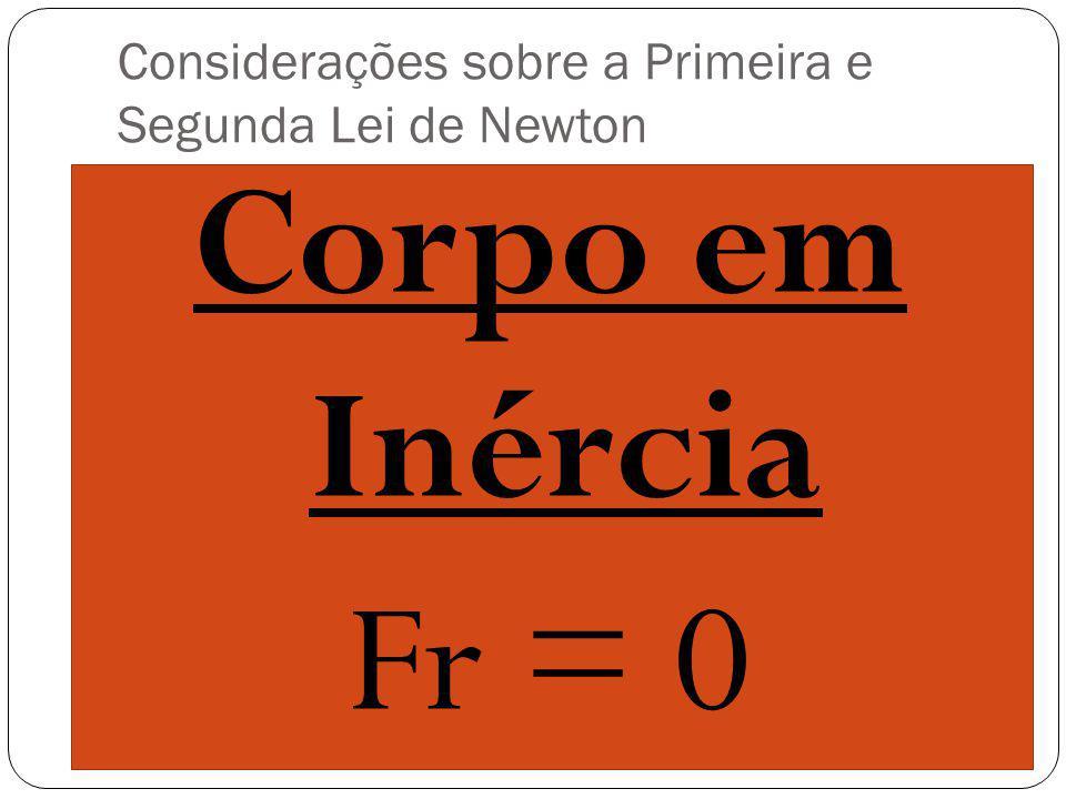 Considerações sobre a Primeira e Segunda Lei de Newton