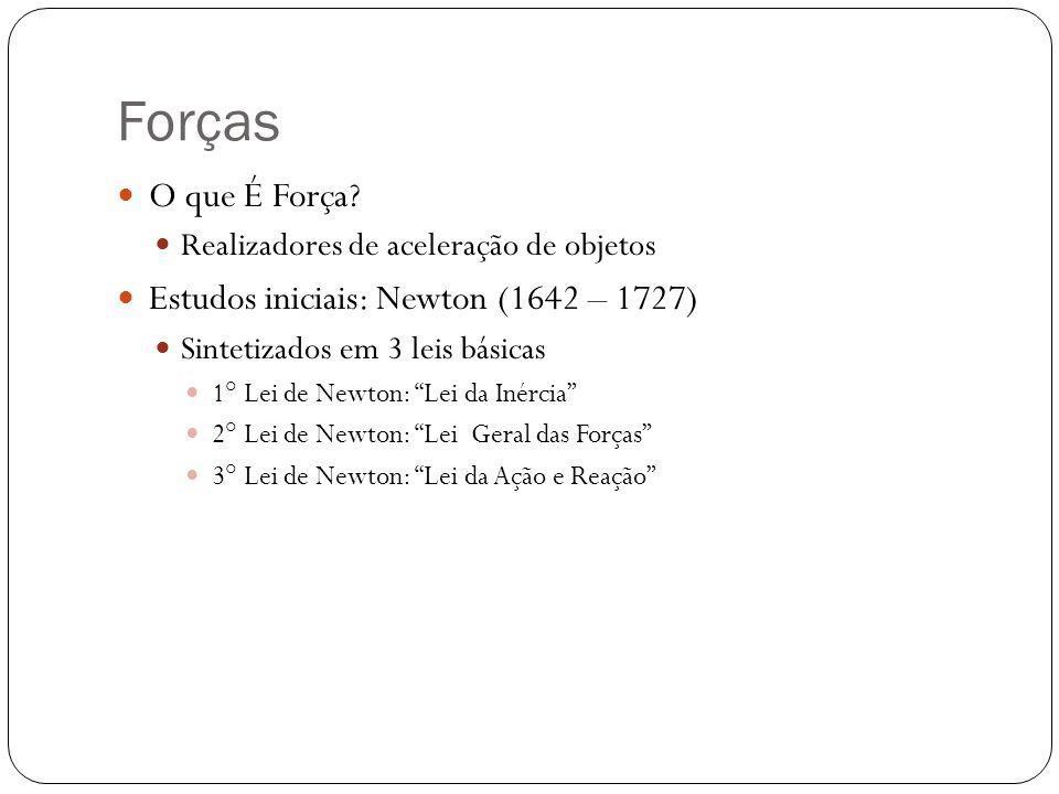 Forças O que É Força Estudos iniciais: Newton (1642 – 1727)