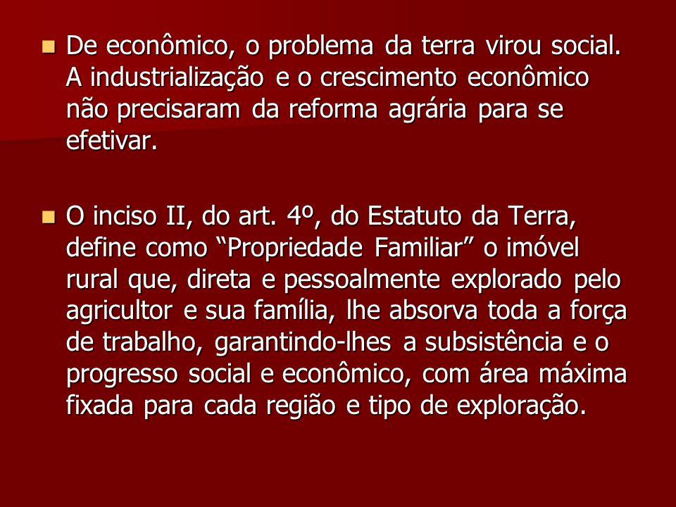 De econômico, o problema da terra virou social