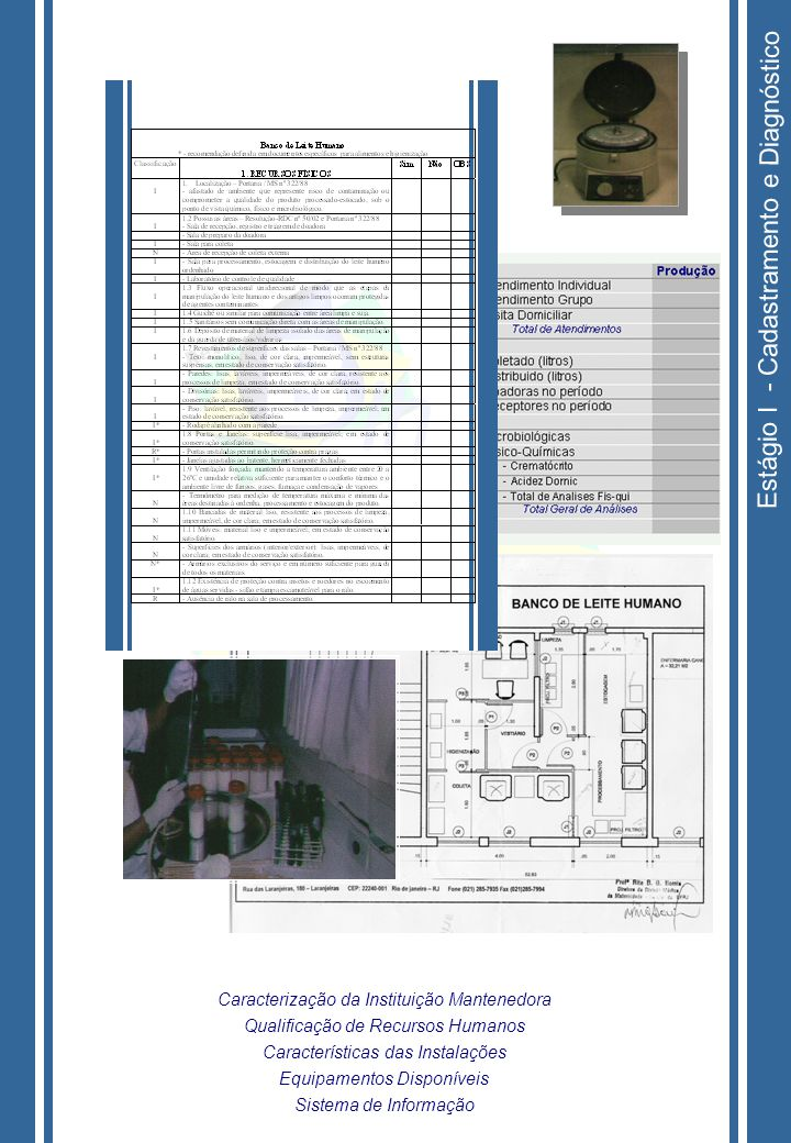 Estágio I - Cadastramento e Diagnóstico