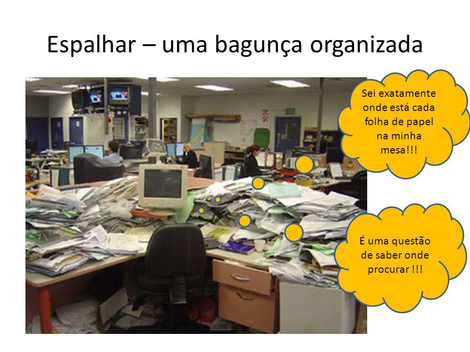 Espalhar – uma bagunça organizada