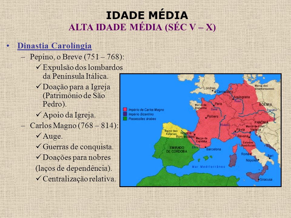 Dinastia Carolíngia Pepino, o Breve (751 – 768):