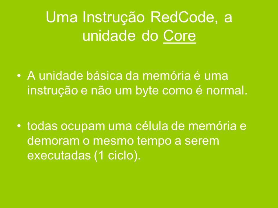 Uma Instrução RedCode, a unidade do Core