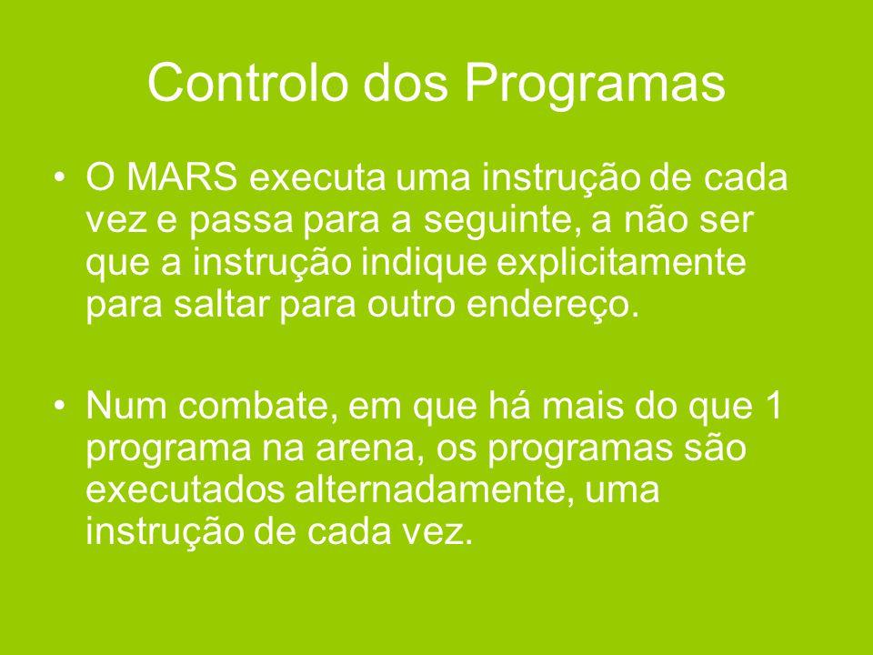 Controlo dos Programas