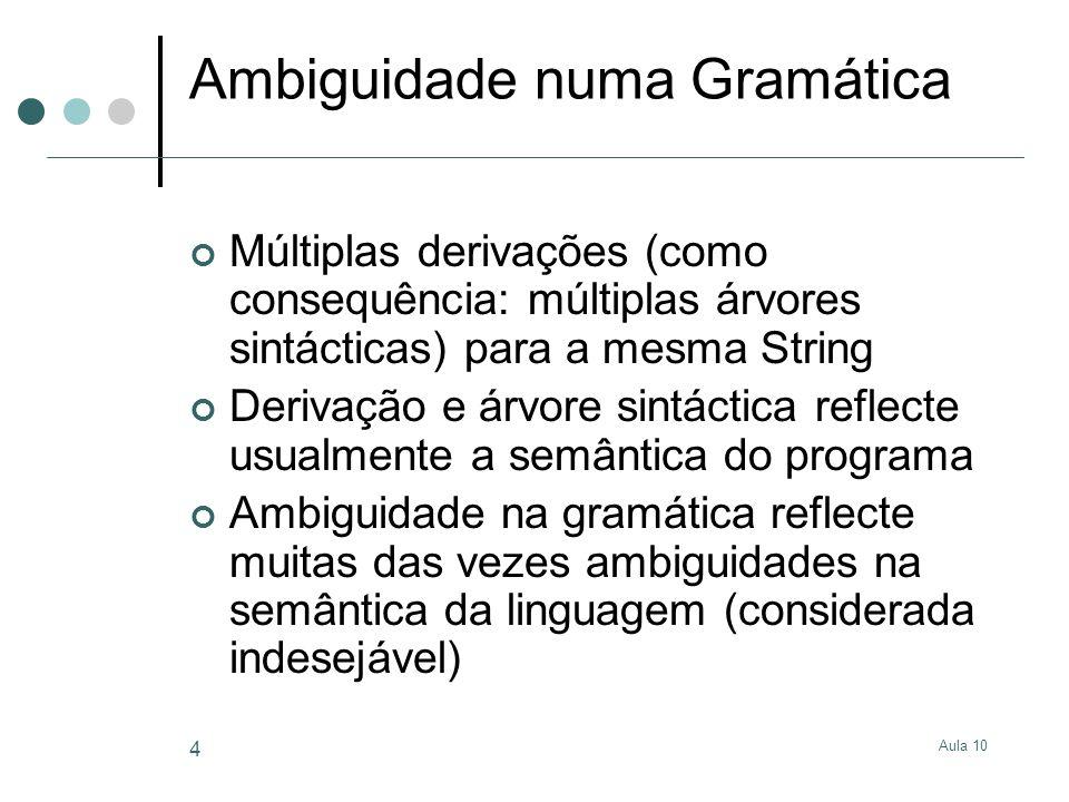 Ambiguidade numa Gramática