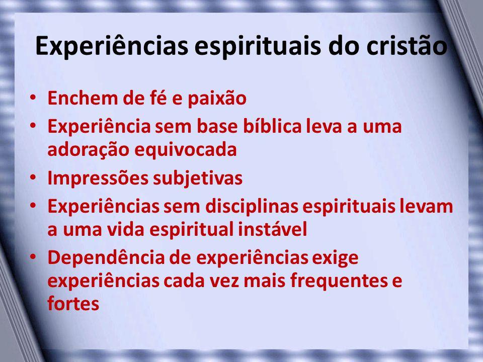Experiências espirituais do cristão