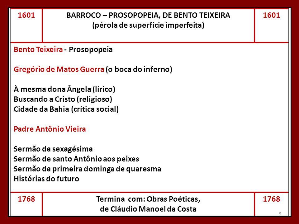 BARROCO – PROSOPOPEIA, DE BENTO TEIXEIRA