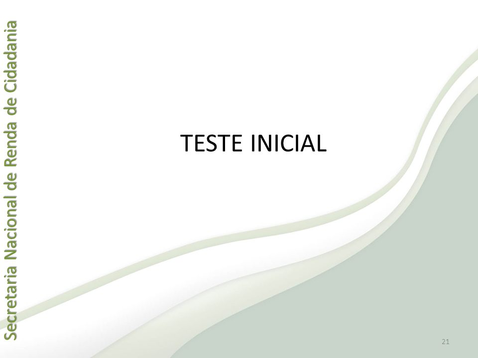 TESTE INICIAL