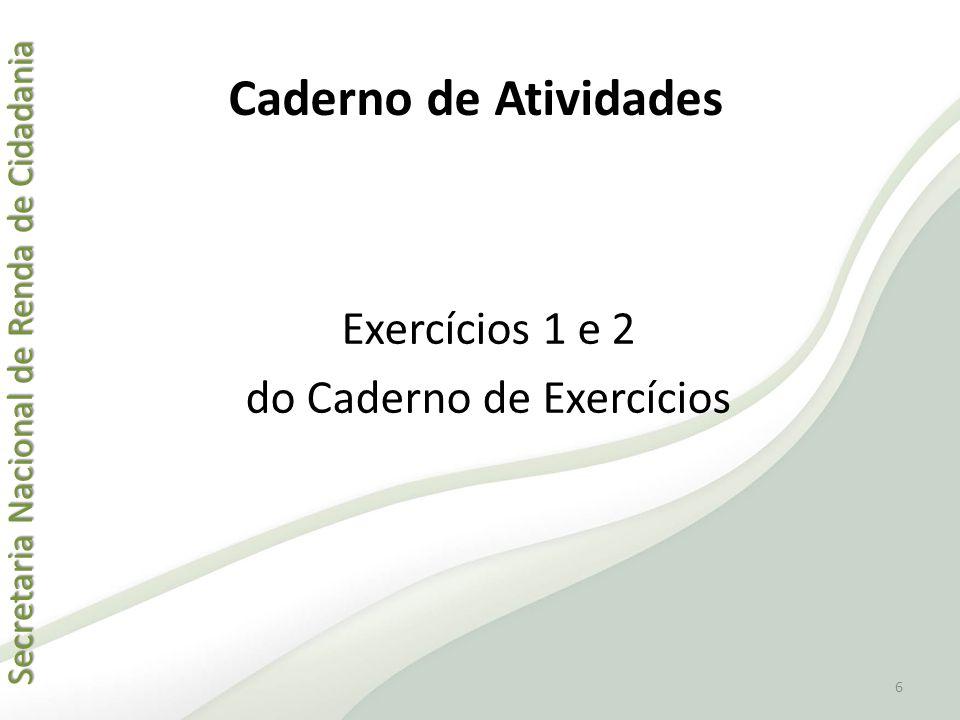 do Caderno de Exercícios