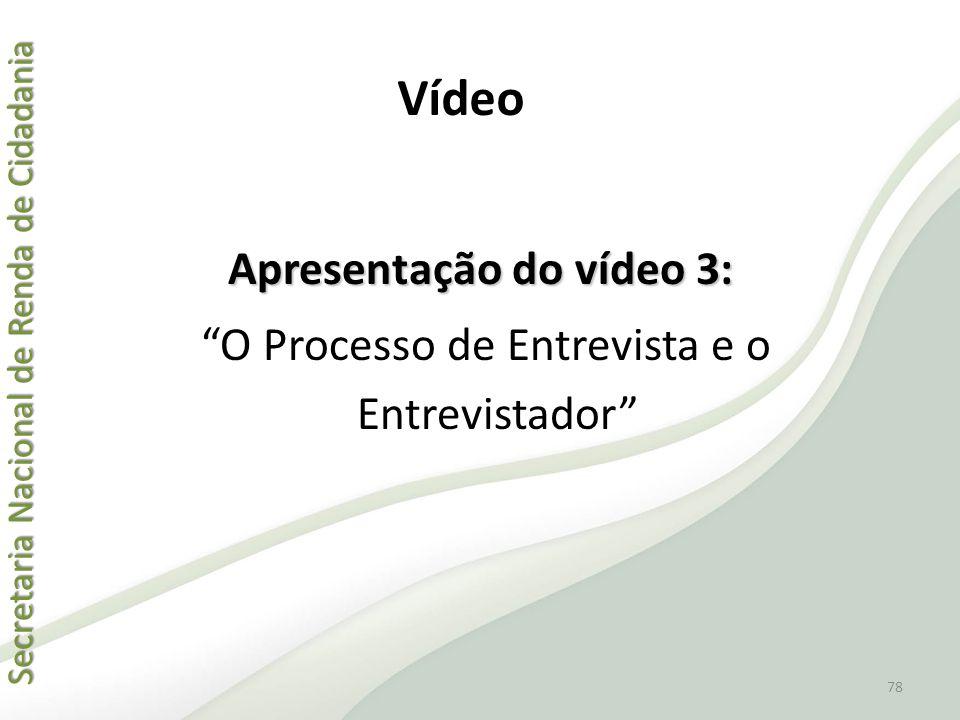 Apresentação do vídeo 3: