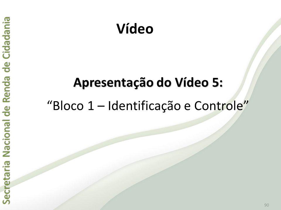 Apresentação do Vídeo 5: Bloco 1 – Identificação e Controle