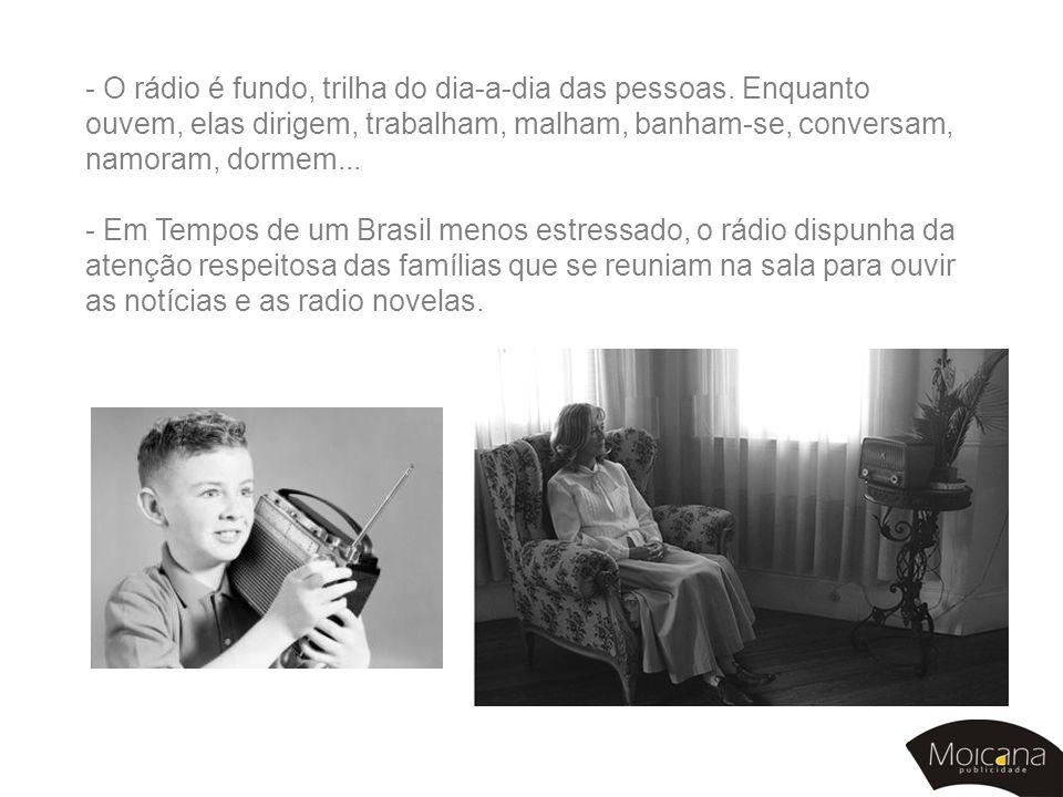 - O rádio é fundo, trilha do dia-a-dia das pessoas
